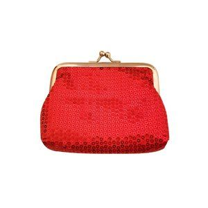 Handbags - Red Sequin Vintage Style Coin Purse